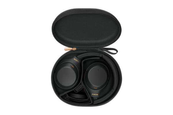 WH-1000XM4 in carry case with cable