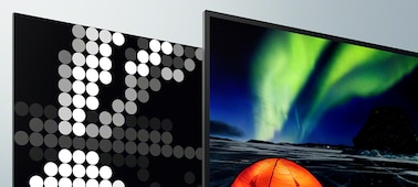 Images on screen showing extreme contrast and real life depth