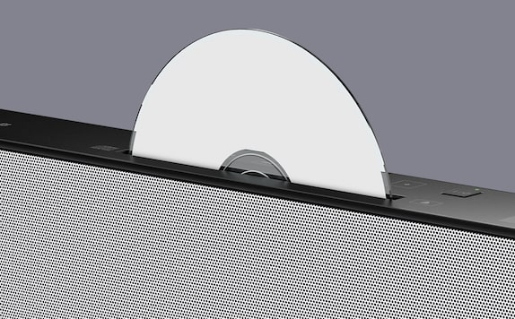 Top-mounted CD player