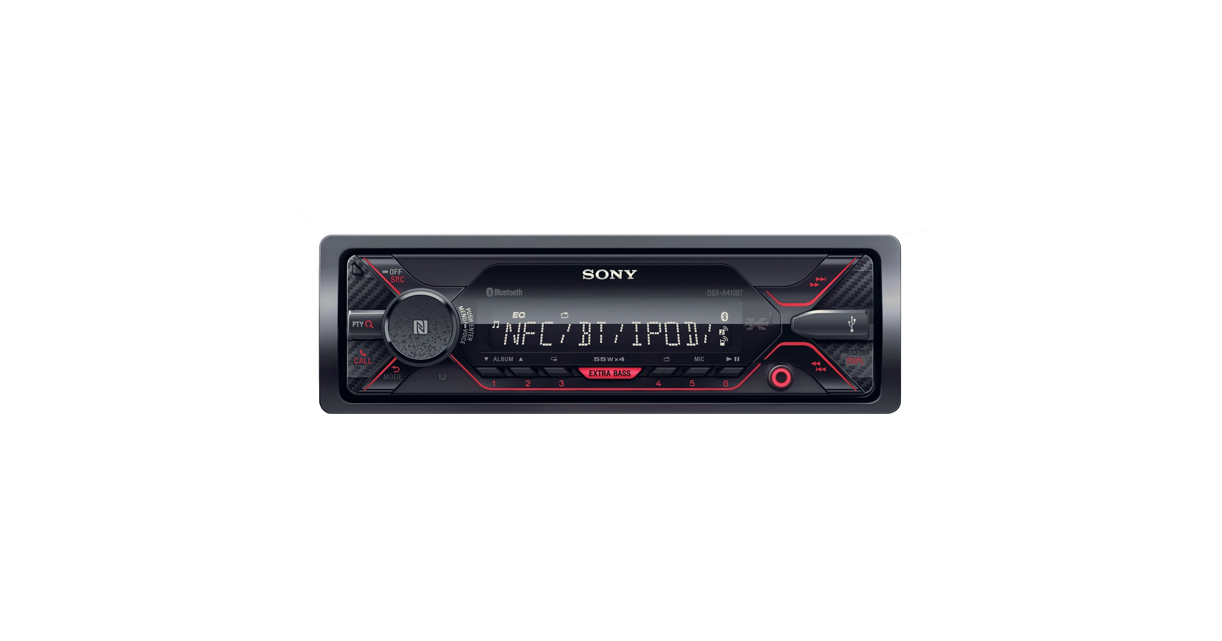 dual bluetooth single din car stereo cd player dsx a410bt sony ie. Black Bedroom Furniture Sets. Home Design Ideas
