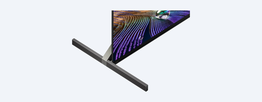 A90J BRAVIA XR TV close-up of stand