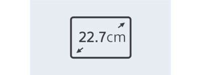 22.7 cm anti-glare touchscreen icon