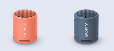 Image of two XB13 EXTRA BASS(TM) Speakers, indicating that two speakers can be connected.