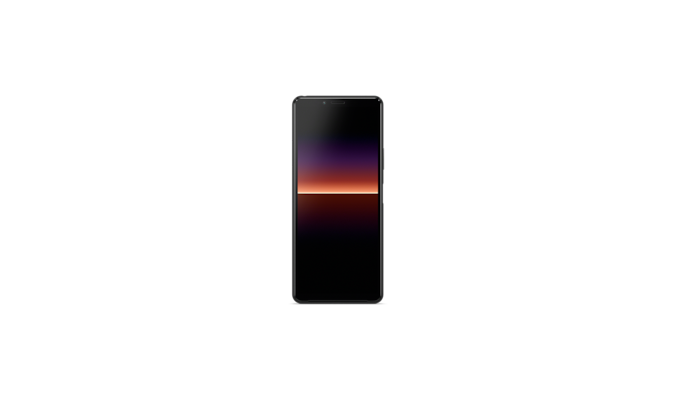Front view of Xperia 10 II in black