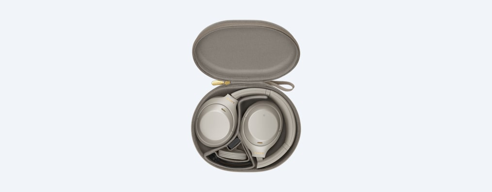 WH-1000XM4 headphones white in carry case