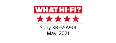 What Hi-Fi 5 Stars award logo for BRAVIA 55A90J