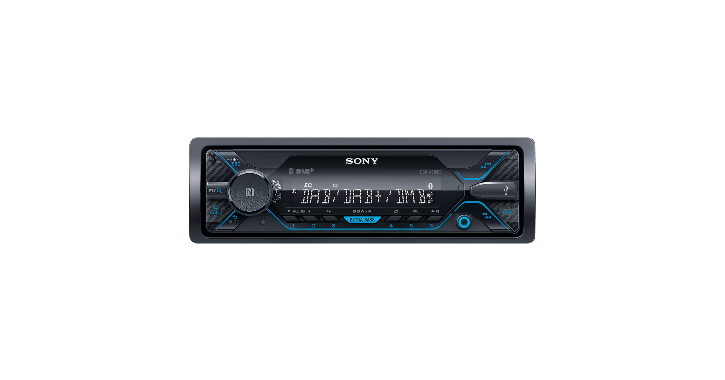 dab car radio with cd player bluetooth dsx a510bd. Black Bedroom Furniture Sets. Home Design Ideas