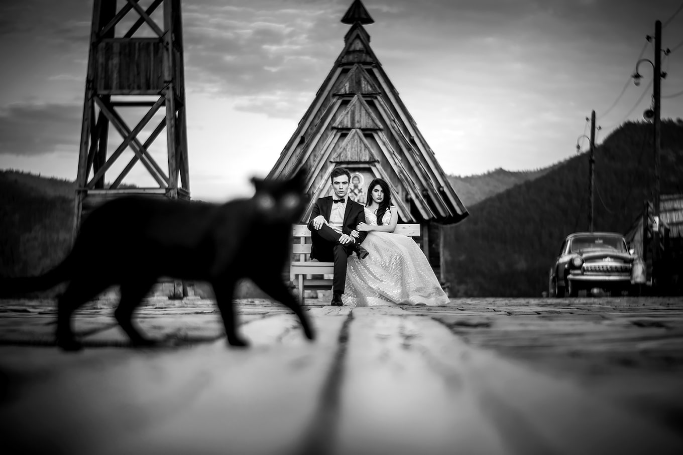 cristiano-ostinelli-sony-alpha-7RIII-bride-and-groom-seated-as-a-black-cat-walks-across-the-frame