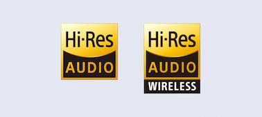 Hi-Res Audio & Hi-Res Audio Wireless logos