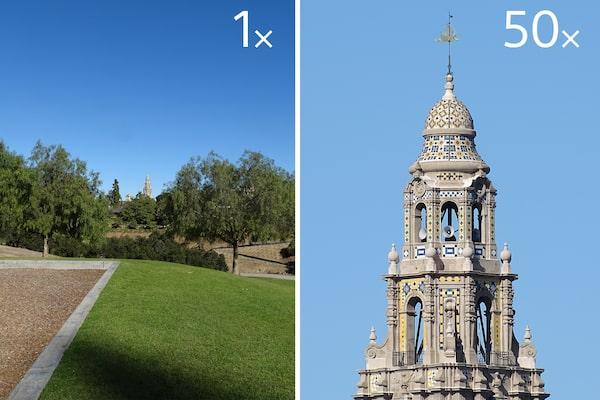 50x optical zoom