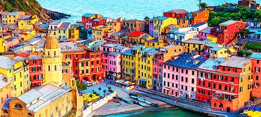 Image of buildings showing 4K picture detail with over a billion colours