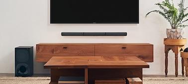 BRAVIA TV with HT-S40R soundbar underneath