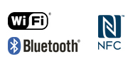 WiFi NFC Bluetooth logo