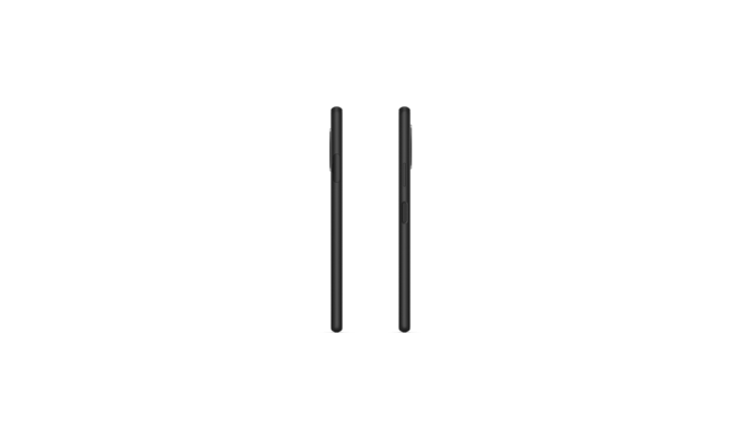 Side views of Xperia 10 II in black