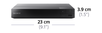 Dimensions of Blu-ray Disc™ Player with built in Wi-Fi