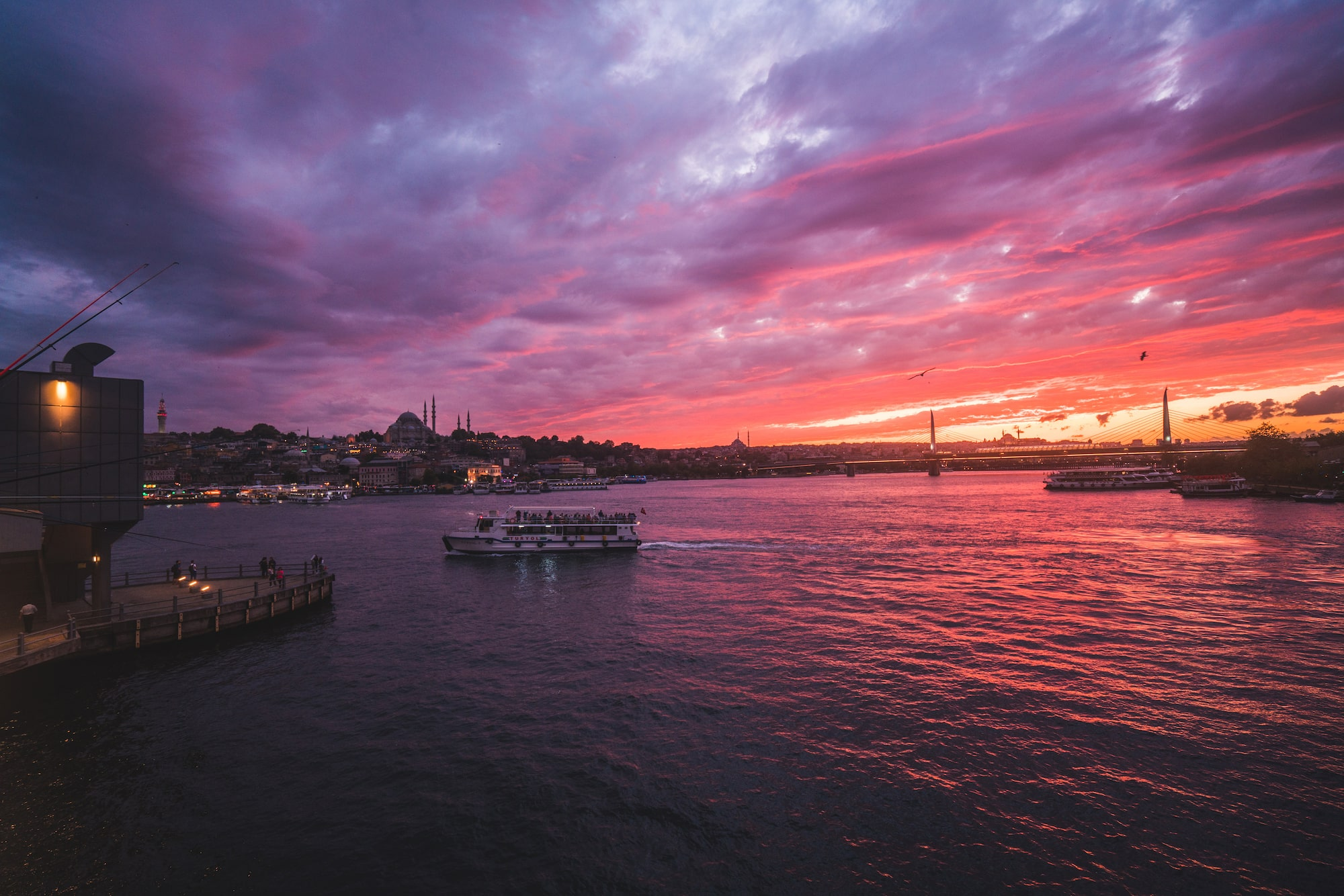İlkin Karacan Karakus sony A7RM2 sunset over the bosphorous in istanbul