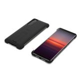 Style cover with stand for Xperia 5 II in black, front and back